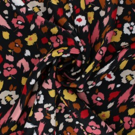 Tissu satin élasthanne Lali by Penelope® - noir x 10cm