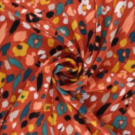 Elastane satin fabric by Penelope® - rust Lali x 10cm