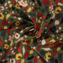 Tissu satin élasthanne Lali by Penelope® - vert kaki x 10cm