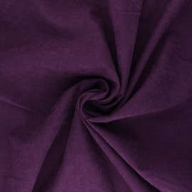 Tissu Doublure aspect suédine Alphée - violet x 10cm