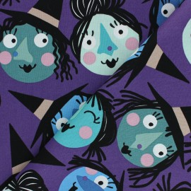 Alexander Henry cotton fabric - purple Which witch is which? x 10 cm