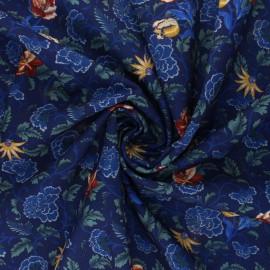 Elastane polyester fabric - blue Dear Miranda x 10cm