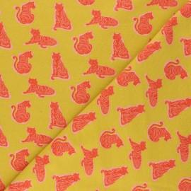 Tissu jersey Poppy Fierce A - jaune moutarde x 10cm