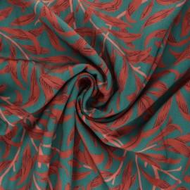 Patterned Viscose Fabric - green Sakari x 10cm
