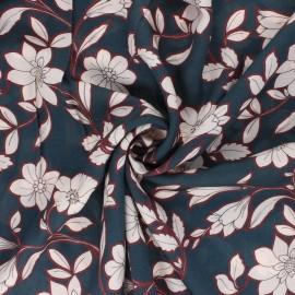 Tissu viscose Capucine - bleu x 10cm