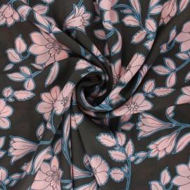 Tissu viscose Capucine - marron x 10cm