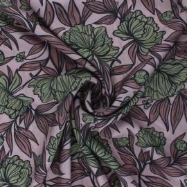 Tissu viscose Peony Blossom - vieux rose x 10cm