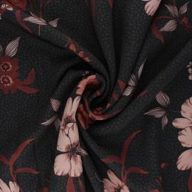 Patterned Viscose Fabric - black Salome x 10cm