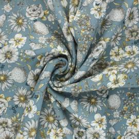 Patterned Viscose Fabric - blue Helene x 10cm