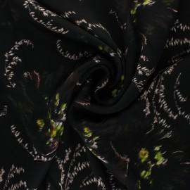 La Maison Victor satiny light polyester fabric - black Enora x 10cm
