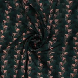 Satiny light polyester fabric - pine green Erin x 10cm
