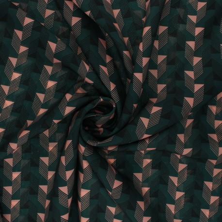 Tissu polyester léger satiné Erin - vert pin x 10cm