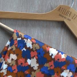 Tissu satin de coton Atelier 27 Charlotte - marron x 10 cm