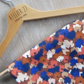 Tissu crêpe élasthanne Atelier 27 Charlotte  - marron x 10cm