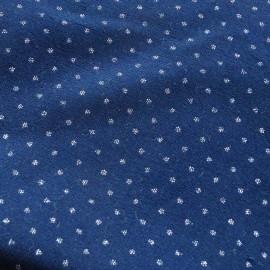 Tissu velours ras Atelier 27 Pois Pailletés - bleu marine x 10cm