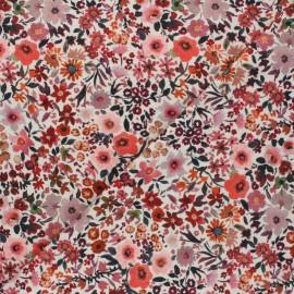Tissu jersey Poppy Aquarelle Fleurs - rose x 10cm