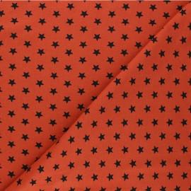 Tissu jersey Poppy Stars - rouille x 10cm