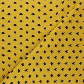 Tissu jersey Poppy Stars - jaune moutarde x 10cm