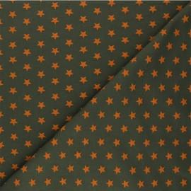 Tissu jersey Poppy Stars - vert kaki x 10cm