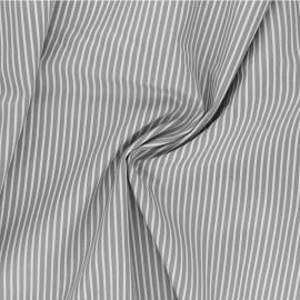 Poppy poplin cotton fabric - grey Stripe A x 10cm