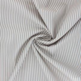Tissu popeline coton Poppy Stripe A - grège x 10cm