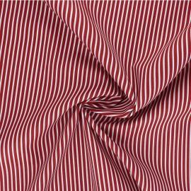Tissu popeline coton Poppy Stripe A - rouge x 10cm