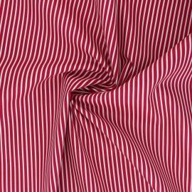 Poppy poplin cotton fabric - raspberry pink Stripe A x 10cm