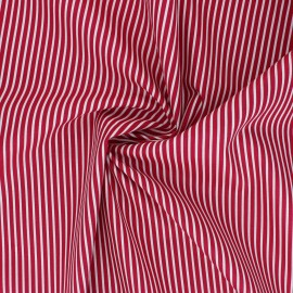 Tissu popeline coton Poppy Stripe A - framboise x 10cm
