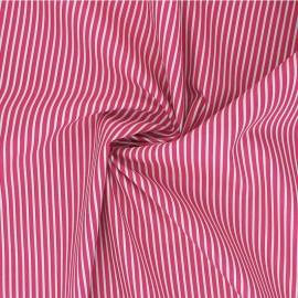 Poppy poplin cotton fabric - fuchsia pink Stripe A x 10cm