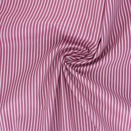 Tissu popeline coton Poppy Stripe A - bois de rose x 10cm
