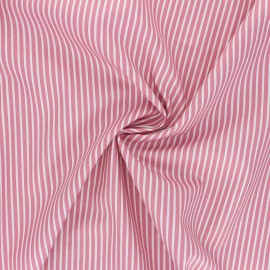 Poppy poplin cotton fabric - pink Stripe A x 10cm