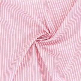 Poppy poplin cotton fabric - light pink Stripe A x 10cm