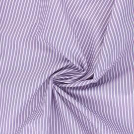 Tissu popeline coton Poppy Stripe A - parme x 10cm