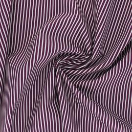 Poppy poplin cotton fabric - purple Stripe A x 10cm