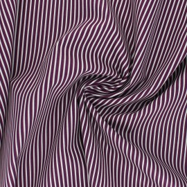 Tissu popeline coton Poppy Stripe A - violet x 10cm