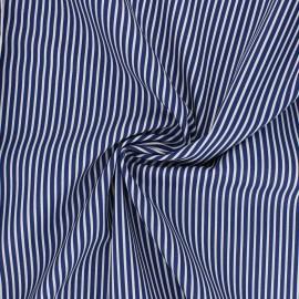 Poppy poplin cotton fabric - navy blue Stripe A x 10cm
