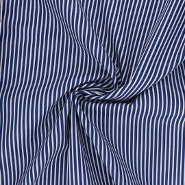 Tissu popeline coton Poppy Stripe A - bleu marine x 10cm