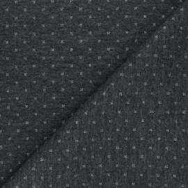 Tissu jersey matelassé réversible The Shining - gris/argenté x 10cm