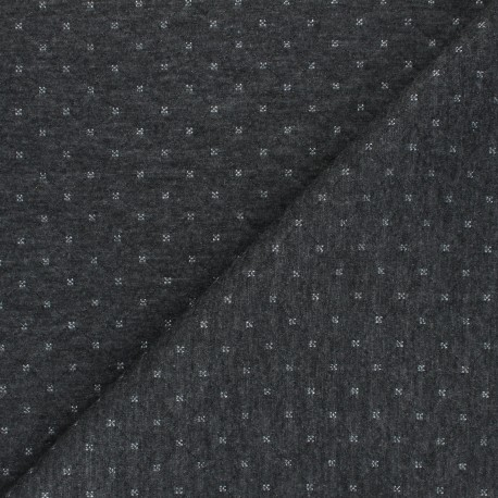 Quilted Jersey reversible fabric - silver/grey The Shining x 10cm
