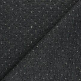 Tissu jersey matelassé réversible The Shining - gris/doré x 10cm