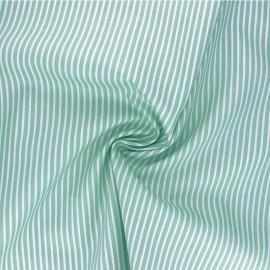 Poppy poplin cotton fabric - celadon green Stripe A x 10cm