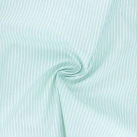 Poppy poplin cotton fabric - aqua green Stripe A x 10cm