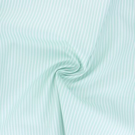 Tissu popeline coton Poppy Stripe A - vert d'eau x 10cm