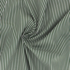 Poppy poplin cotton fabric - dark green Stripe A x 10cm