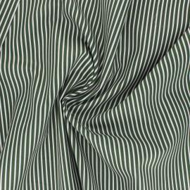 Tissu popeline coton Poppy Stripe A - vert foncé x 10cm