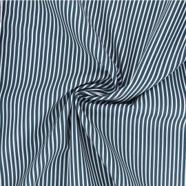 Poppy poplin cotton fabric - peacock green Stripe A x 10cm