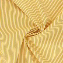 Tissu popeline coton Poppy Stripe A - jaune x 10cm