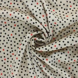 Light Crepe fabric - light grege Yuma x 10cm