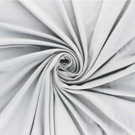 Tissu sweat léger Modal uni - gris perle x 10cm