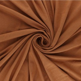 Plain Modal French Terry Fabric - ginger x 10cm
